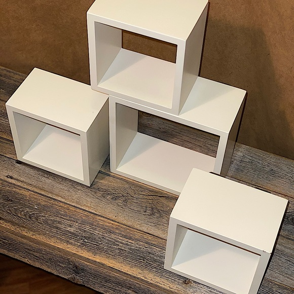 Set of 4 West Elm Wall Cubes